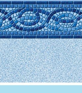 boca white crystal pool liner image